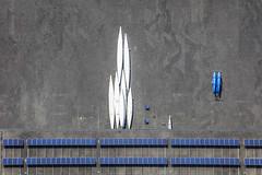 Boats Ashore (Aerial Photography) Tags: by m obb 21052018 5sr41079 bavaria bayern blau boot deutschland farbe fotoklausleidorfwwwleidorfde fotoklausleidorfwwwleidorfaerialcom germany grafik grau linien luftaufnahme luftbild muster oberschleisheim p1 regattastrecke region reihen ruderboot weis aerial blue boat color colour graphicart graphics grey lines outdoor pattern patterns rowboat rowingshell rows spitz white oberschleisheimlkrmünchen bayernbavaria deutschlandgermany deu abstrakt abstract