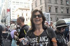 postcard (greenelent) Tags: notrump protest demonstration riseandresist streets people activists nyc newyork