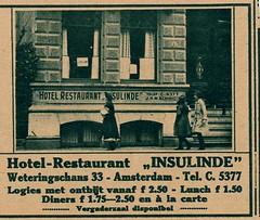 de stad Amsterdam 1923 adv  hotel  Insulinde (janwillemsen) Tags: advertising amsterdam 1923 magazineillustration