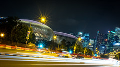 DSCF3346 (gg31hh) Tags: architecture nightscene nightshot light trail building singapore