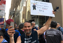 idiot (greenelent) Tags: notrump protest demonstration riseandresist streets people activists nyc newyork