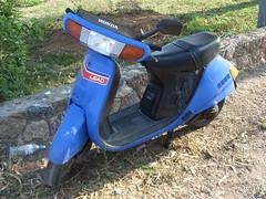Honda Lead scooter (gingerbeardman) Tags: blue honda scooter nh greece motorbike 80s motorcycle 1980s corfu lead 50cc aero paleokastritsa hondalead nh50 lead50 hondalead50 hondaaero nh80