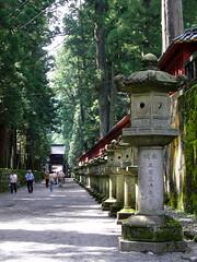 二荒山神社へ続く道