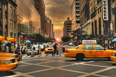 Before Sunset (photomagister) Tags: nyc newyorkcity sunset beautiful manhattan taxi d70s nikond70s 1735mmf28d hdr nyctaxi interestingness96 i500  abigfave great123