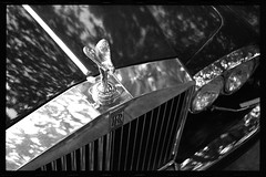 Spirit of Ecstasy (Wade Griffith) Tags: bw car 35mm rollsroyce ornament hood wadegriffith utata:project=justblack wadegriffith2010