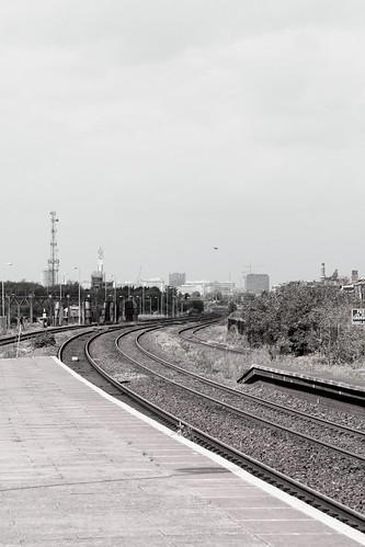 Monochrome view from the platform