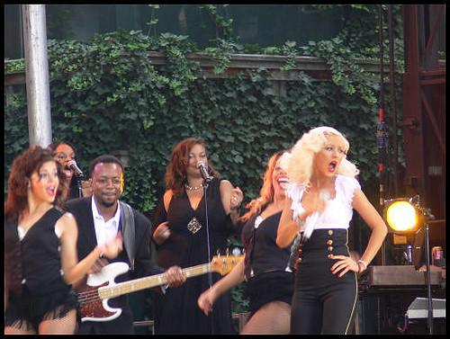 Cristina Aguilera en concierto