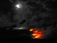 moon over volcano (fotogail) Tags: moon water rock stone night volcano hawaii lava pix pacific hike nighttime safe volcanic nocturne kilauea fotogail utatafeature sfchronicle96hours relativelysafe yourtop60interestingfaves2006thanks gail:williams=2006