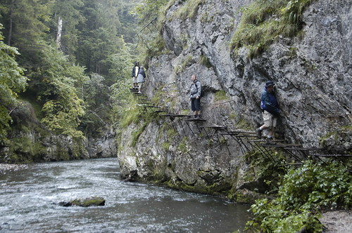 Stepping along a gorge