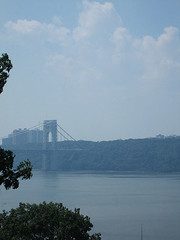 Another view of the Bridge (Bolt of Blue) Tags: bridge hudsonriver georgewashingtonbridge thecloisters