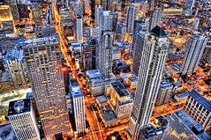 The Magnificent Mile (Stuck in Customs) Tags: city sunset usa chicago streets building tower architecture night america work buildings grid lights evening office illinois nikon bravo colorful downtown cityscape loop sears searstower unitedstatesofamerica towers d2x officebuilding business theloop johnhancock hdr magnificentmile lucisart mykindoftown nikonstunninggallery d2xs