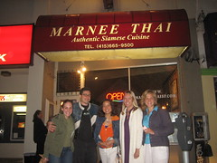 All of us at Marnee (Tricia Wang ) Tags: sanfrancisco sunset food breakfast dinner restaurant katie jenny thai tantek outersunset irvingstreet liane marneethai triciawang lilbear