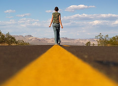 sometimes the road gets rugged and it's hard to travel on... (dlemieux) Tags: california road blue light summer sky usa selfportrait west reflection me colors yellow clouds composition america self wow geotagged idea vanishingpoint cool fantastic hig