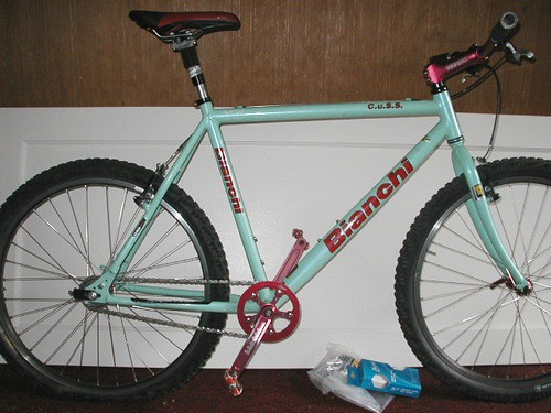 and my Bianchi CuSS (it no longer has the thudbuster post) e99b41a691