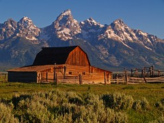 Morning at the Ranch (Matt Champlin) Tags: ranch old morning summer mountains history barn sunrise glow wyoming grandtetons tetons grandtetonsnationalpark abigfave