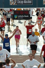 Me finishing Chicago Marathon by rbackowski on Flickr!