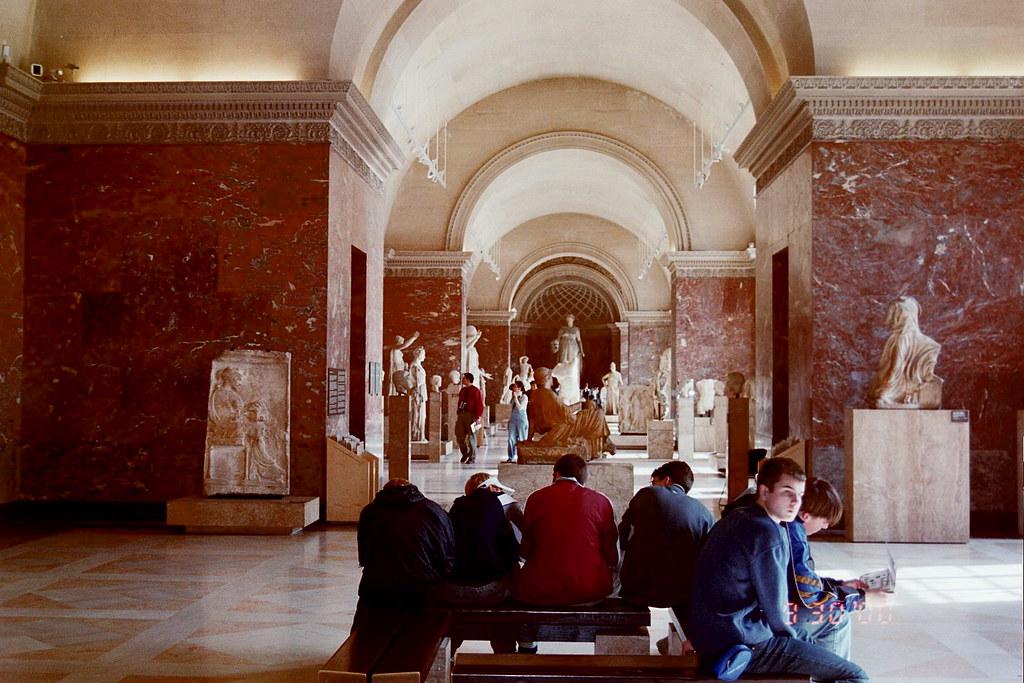 Greco-Roman Sculpture Section  & Hallway: Louvre