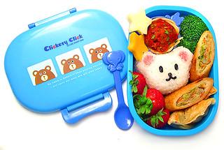 Clickety click bear bento 9-12-06