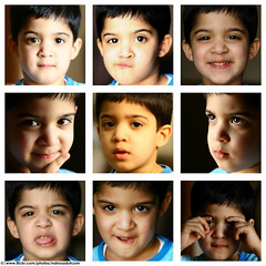 Faces (Mohammed Nairooz) Tags: boy portrait baby collage digital photoshop canon happy eos 350d child faces 2006 nephew angry nairooz nikonstunninggallery