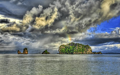 Three Muses of Malaysia (Stuck in Customs) Tags: ocean storm clouds landscape island bay rainbow nikon d2x malaysia langkawi hdr archipelago d2xs stuckincustoms imagekind treyratcliff stuckincustomsgooglescreensaver