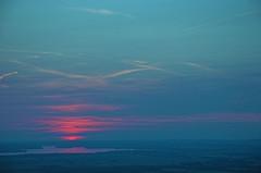 Cloud birds (aylmerqc) Tags: sunset canada landscape geotagged quebec gatineaupark ottawariver outaouais champlainlookout utataview geolat45508347 geolon75913167