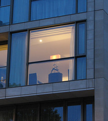 Contemporary Window (ellla) Tags: windows london canon britain figurines lamps blueribbonwinner s3is