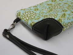 green & leather 002 (Flamestitch) Tags: green floral leather bag purse mohair tufted wristlet flamestitch