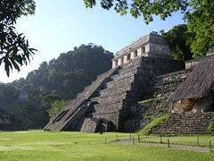 Archaeological site Palenque lost Maya city Chiapas Mexico Latin America