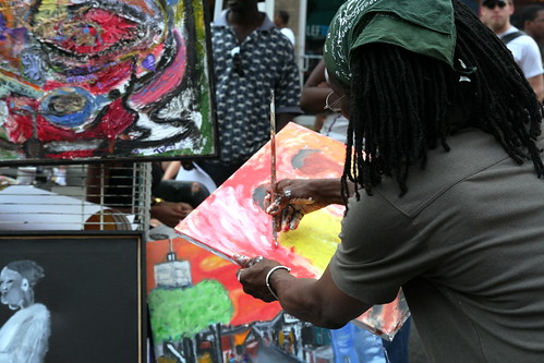 artist at Adams Morgan Day