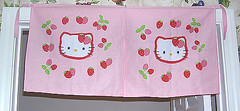 Hello Kitty Strawberry Door Curtain (pkoceres) Tags: door pink kitchen japan strawberry hellokitty curtain sanrio noren     boughtonebay  hellokittystrawberry