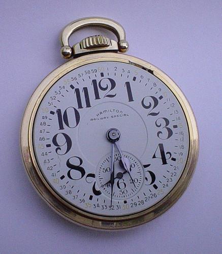 Hamilton Railway Special Pocket Watch 950B, A TREASURE (330032665629)