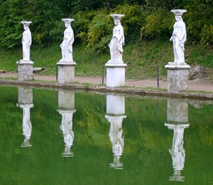 Reflecting in the water (menteblu61) Tags: rome reflection tivoli ancient roman adriana empire villa riflessi hadrian top20reflections interestingness332 2for2 abigfave