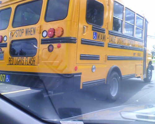 Miami-Dade school bus, on US 23 SB south of Bowling Green OH