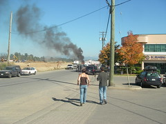 Do You Smell Smoke? (Dru!) Tags: party toxic truck work fire office melting bc britishcolumbia smoke flames 911 smoking tires burning entertainment burn incendiary insurance fuel roasting abbotsford distraction exploding gvrd combustion inflamed burnbabyburn smokedamage enflamed truckfire fvrd mtlehman