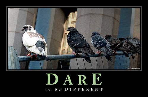 Dare to be Different - Motivational Poster, motivational posters, demotivational posters, funny motivational posters