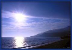 maliblue (Kris Kros) Tags: ocean california ca blue sunset sky usa cloud mountain seascape beach public cali photoshop landscape us nikon alone view searchthebest state pacific cs2 ps malibu socal kris starburst kkg 50v5f bluetiful pscs2 kros kriskros kk2k abigfave artlibre maliblue kkgallery