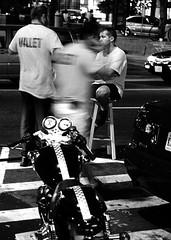 We Solve Problems. (Rik Goldman) Tags: street bw adams parking d70s zebra motorcycle dcist morgan crosswalk asylum valet rikgoldman