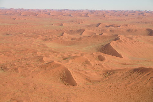 Namib desert from plane