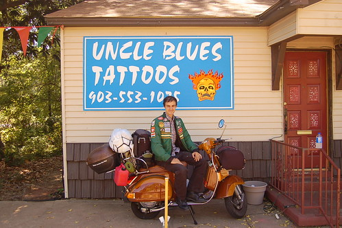 Me at Uncle Blue's Tattoos