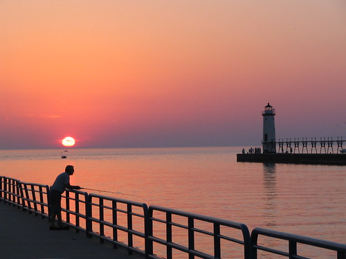 Manistee Lighthouse Sunset