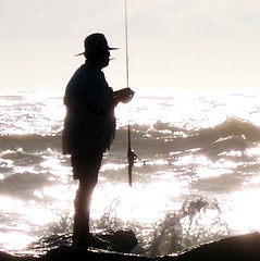 "Surf Fishing ""Planning his Attack"" Folly Beach,SC (Reellady) Tags: ocean sea fish beach sc sunrise fishing fisherman surf south north southcarolina charleston tournament carolina follybeach meet folly greet lowcountry mywinners totalexposure reellady"