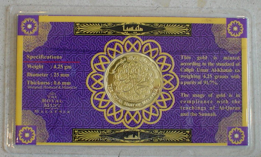 Gold Dinar Coin from Malaysia