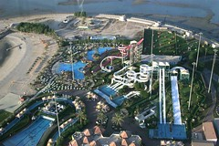 View from Kuwait Towers (fadibou) Tags: park sea beach water pool amusement towers kuwait slides abraj