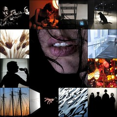 shadows, silhouettes, reflections, & light (mosaic 3) (Mr.  Mark) Tags: china family light sunset shadow red music woman dog white storm reflection water beautiful silhouette stairs mouth hair asian boat mac fdsflickrtoys ship glow hand mosaic ripple portait wheat grain trumpet jazz screen sandwich lips monitor bite  2008 lili     ssrl markboucher shadowsilhouettereflectionlightmosaic