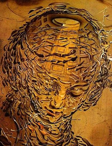 Dali-Exploding Raphaelesque Head