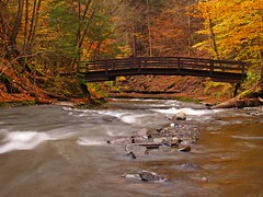 Country Bridge (Matt Champlin) Tags: bridge autumn fall landscape stream country glen upstatenewyork gorge waterblur fingerlakes magicmoments countryliving filmore moravia abigfave fillmoreglen