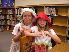 Little Red Riding Hood and Grandmother (Old Shoe Woman) Tags: school costumes students reading books bookcharacters redribbonweek readathon yearbook2006 drugawareness