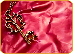 Key 2 My HearT (Cherie) Tags: pink love gold key heart cherie
