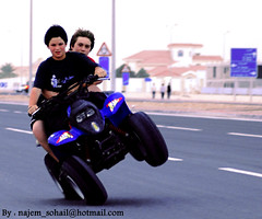 Smile .. you're in Qatar! (!  ) Tags: fun wheels caughtintheact doha qatar sohail   najem quatar