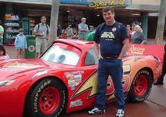 Paul and Lightning McQueen